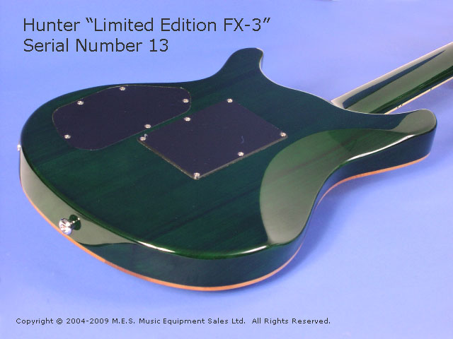 Hunter Limited Edition FX3 Electric Guitar, Body Back-1
