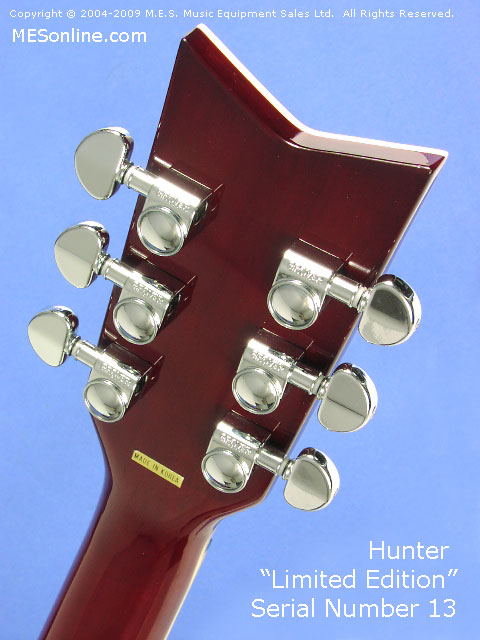 Hunter LE Guitar Head Stock Back View