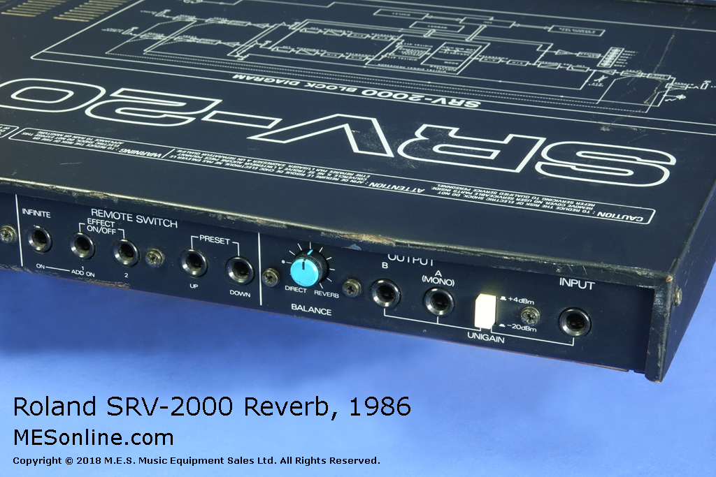 Roland Srv 2000 Midi Digital Reverb From 1986